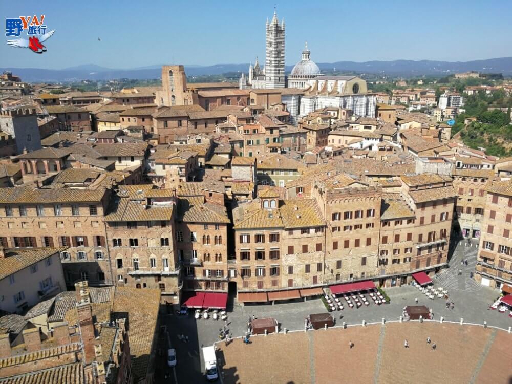 義大利托斯卡尼Siena扇形廣場 @YA 野旅行-旅行不需要理由