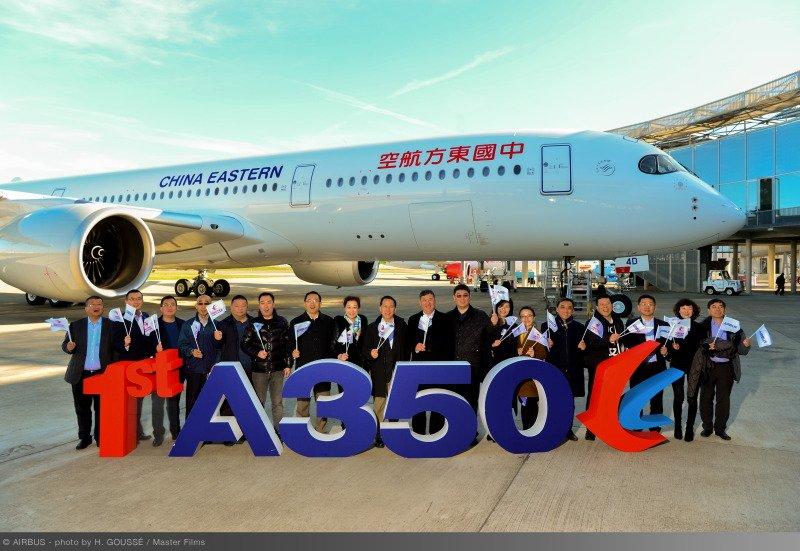 中國東方航空首架A350-900驚豔亮相 全球首發包廂式商務艙 @YA 野旅行-旅行不需要理由