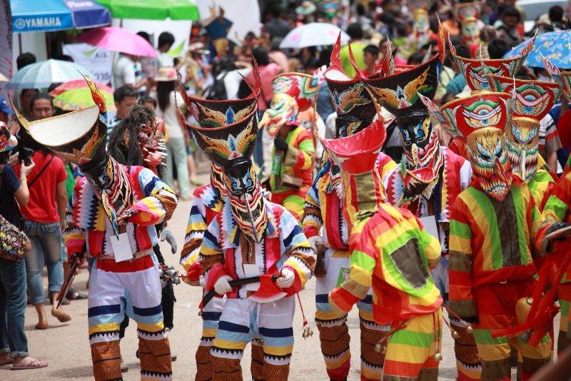 泰國雷府 一點都不恐怖的皮塔空(鬼臉)節即將登場 @YA 野旅行-旅行不需要理由